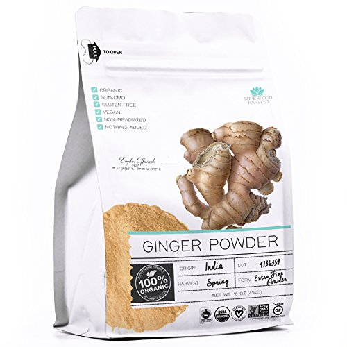 Organic Ginger Powder – 1 pound – 100% USDA Organic, Certified Non GMO, Grade AAA Highest Quality