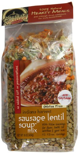 Frontier Soups Hearty Meals Indiana Harvest Sausage Lentil Soup Mix, 16 Ounce
