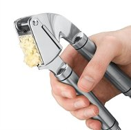 Greenco Heavy Duty Solid Stainless Steel Garlic Press, Crusher, Mincer, Including 2 Free Bonuses Inside, Silicone Garlic Peeler and a Cleaning Brush