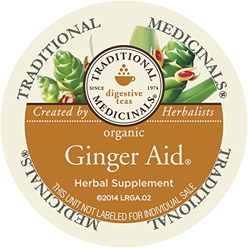 Traditional Medicinals Organic Ginger Aid Tea, Single Serve Cups for Keurig K-Cup Brewers, 10 Count