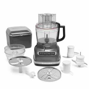 KitchenAid KFP1333QG 13-Cup Food Processor with ExactSlice System - Liquid Graphite