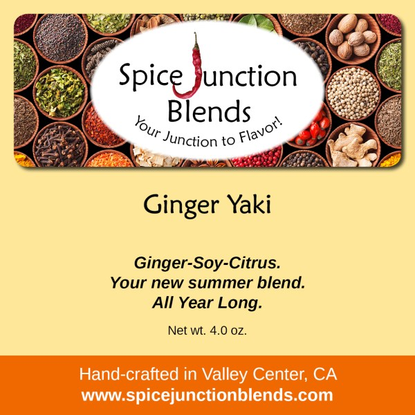 Ginger Yaki Blend | Spice Junction Blends, Valley Center, California