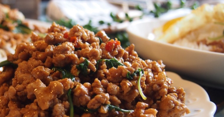 Thai Basil Pork- 10 min cooking