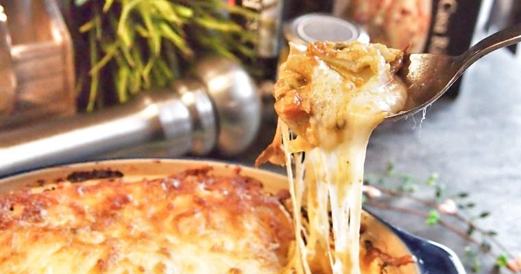 Cheesy Lasagna with Spinach & Mushrooms