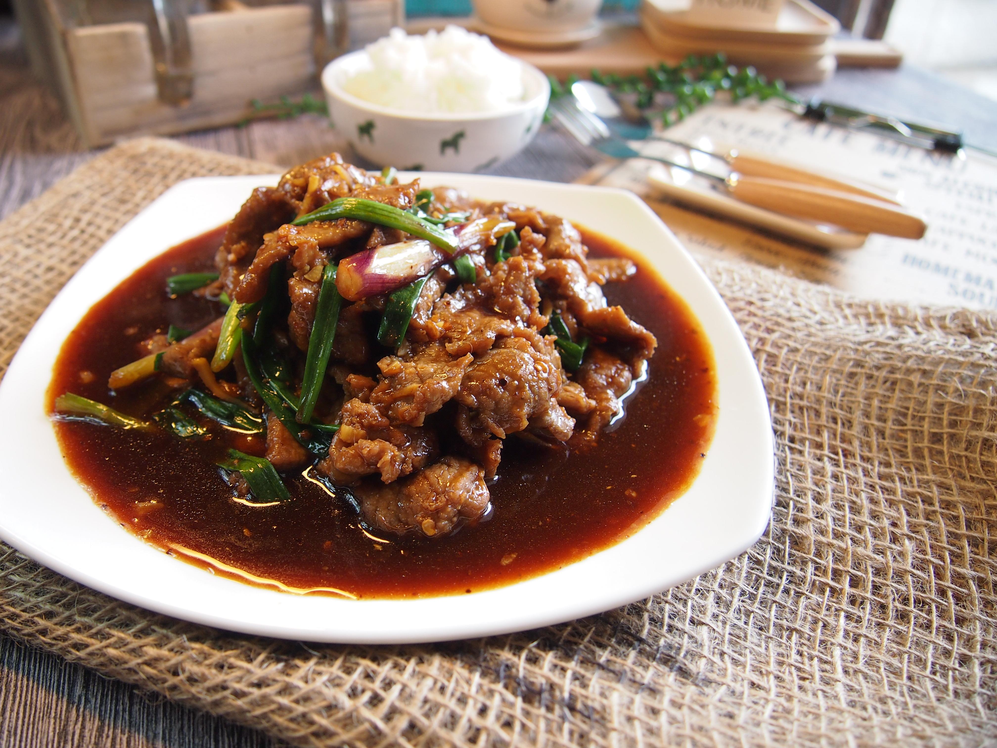 SUPER EASY & YUMMY Recipe: Mongolian Beef 蒙古牛肉