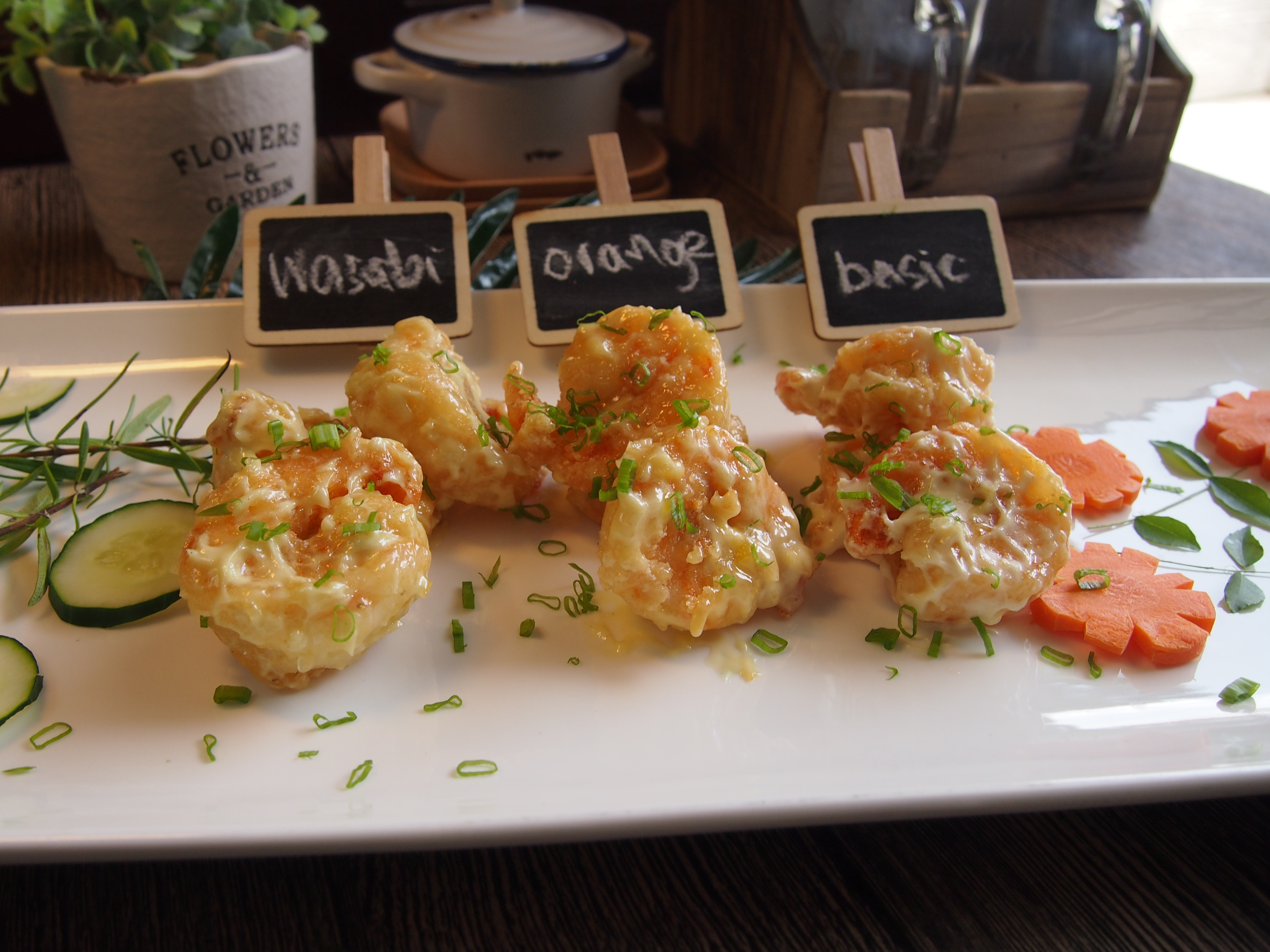 How to cook Crispy Prawns in 3 Flavours From Scratch: Basic Mayonnaise   Wasabi & Orange Mayonnaise