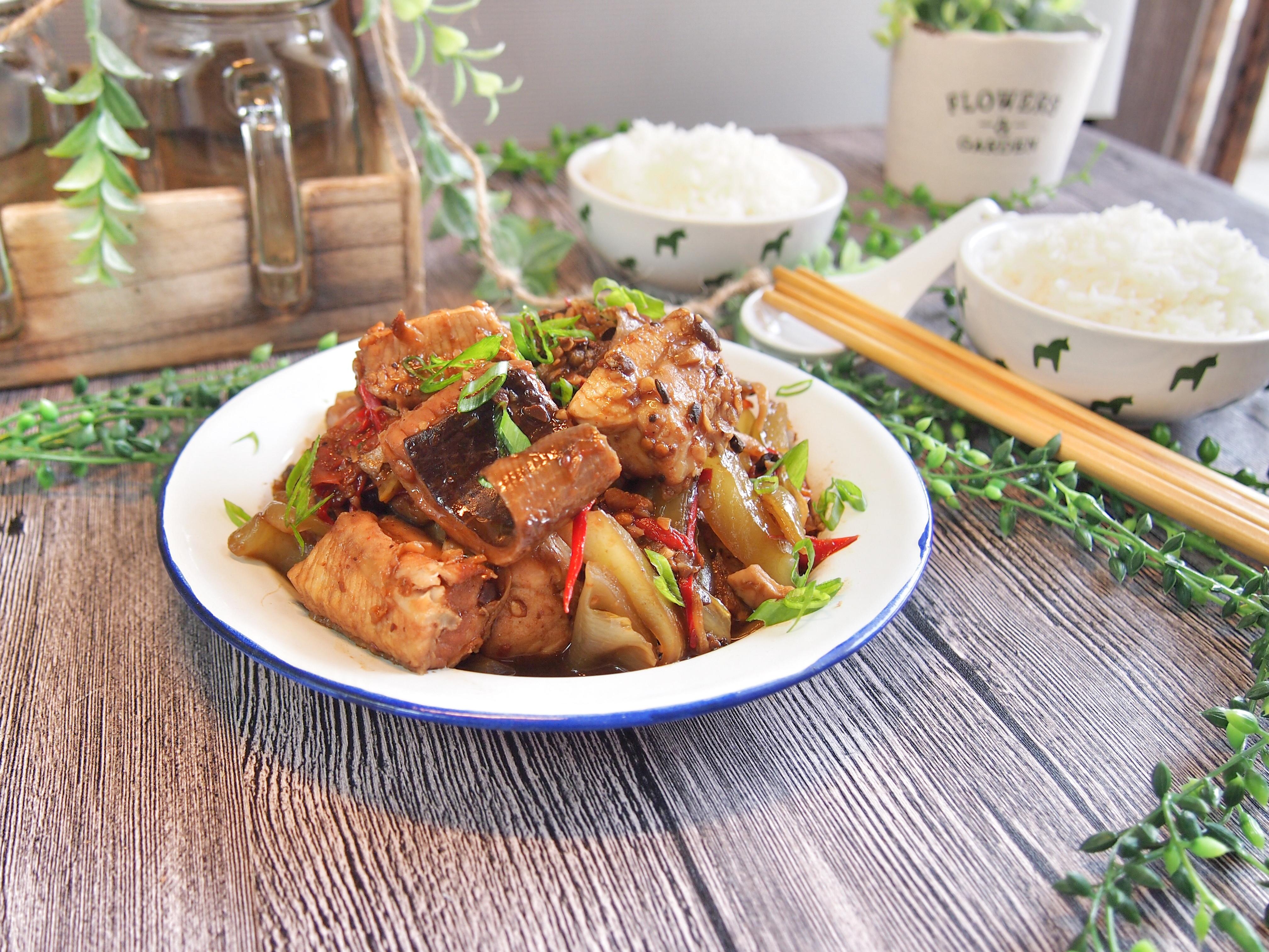 Super Easy Stir Fried Fish w/ Salted Vegetables Recipe