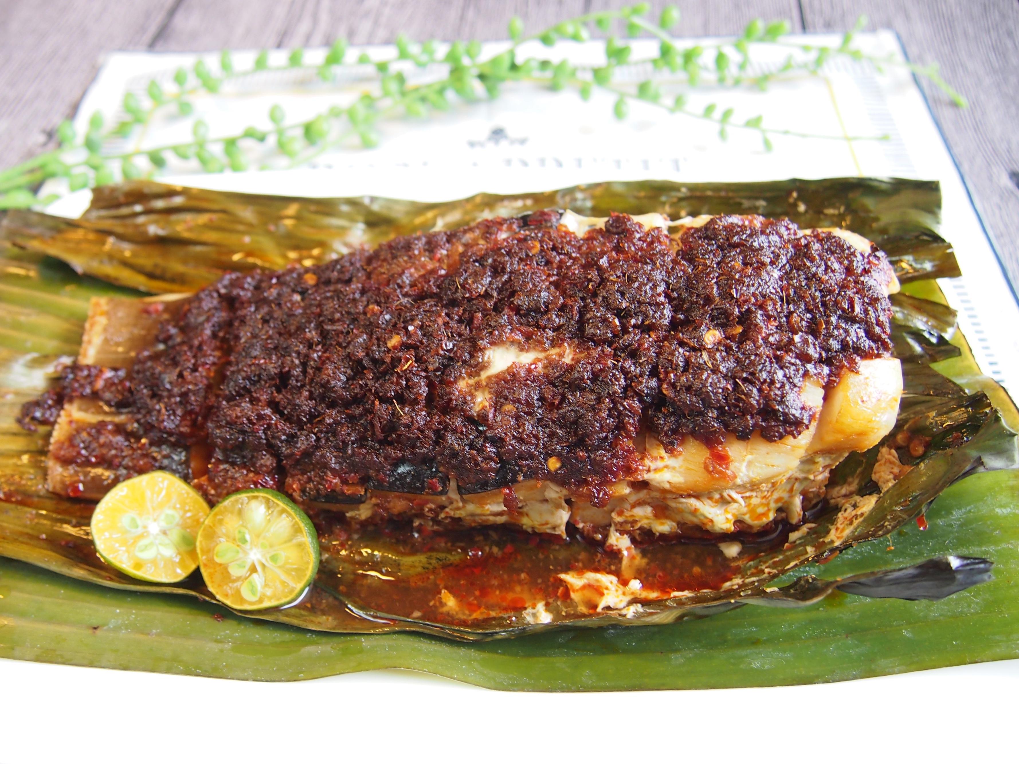 SUPER EASY Oven-Baked Sambal Fish (Stingray) 三岜魔鬼鱼 Ikan Bakar/Panggang