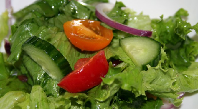 Green Salad with Lazy Vinaigrette