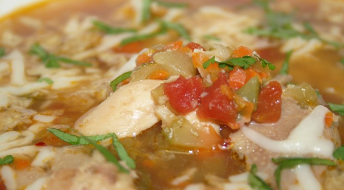 Mexican Chicken Vegetable Soup (Caldo Tlalpeño)