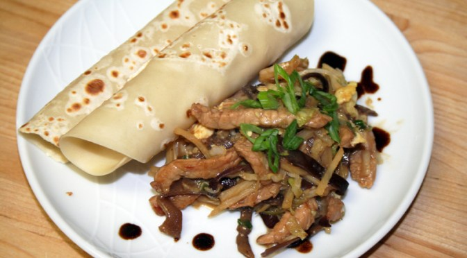 Moo Shu Pork with Homemade Pancakes