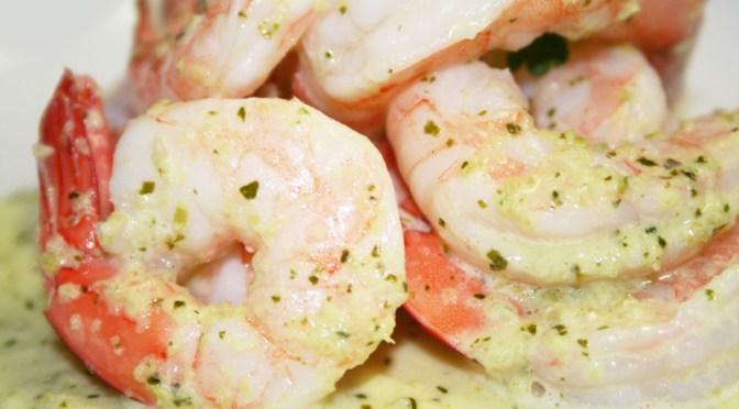 Jumbo Shrimp in Cilantro Sauce (Camarones en Salsa Verde)