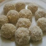 chicken balls dredged in panko