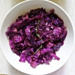 Red Cabbage sauteed with red wine and thyme