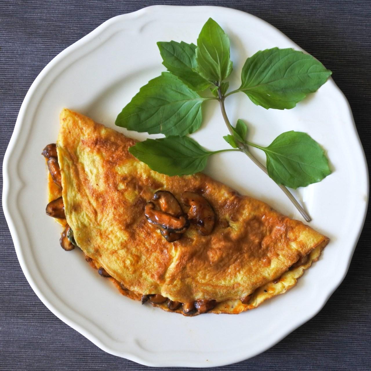 Thai Chile Mushroom Omelette