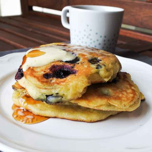 Blueberry pancakes with lemon and ginger_re-edited