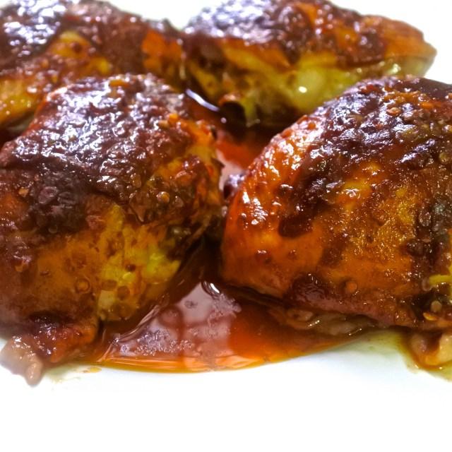 crispy piri piri chicken thighs