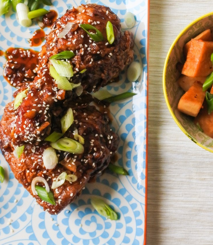 spicy fried chicken with pickled daikon