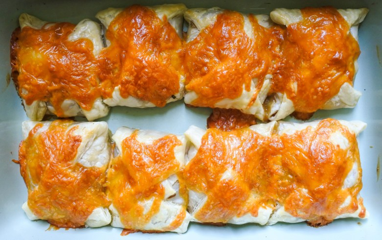 baked pastries in oven tray