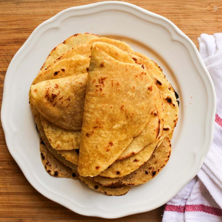 Corn Tortillas on a plate