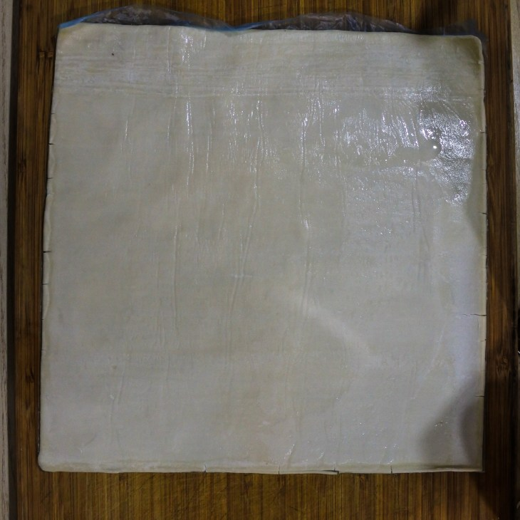 a sheet of puff pastry