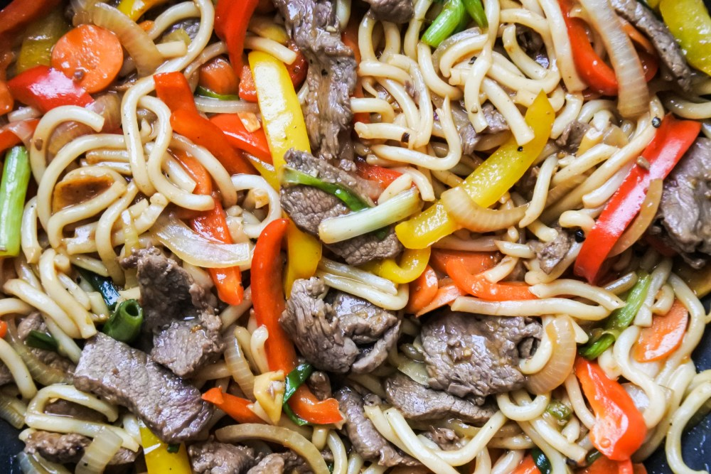 Wok Fried Beef Noodles