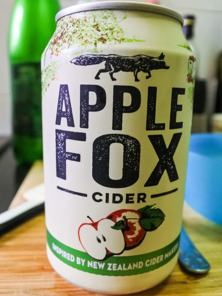 a can of Apple Fox cider