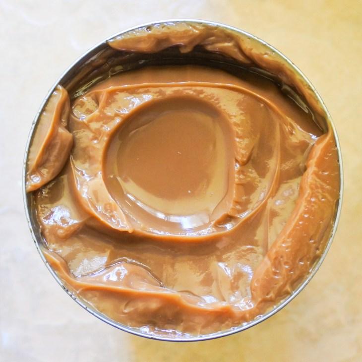 Dulce de leche in a can