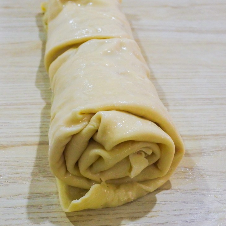 Rolled up pasta sheet