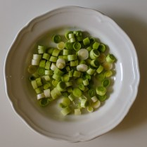 chopped scallions/leeks