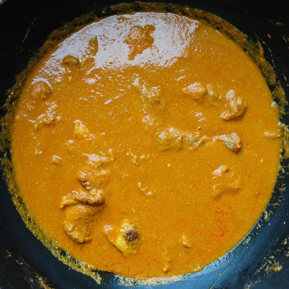 Chicken Tikka Masala in a large pot