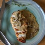 pan-roasted chicken with mushroom sauce