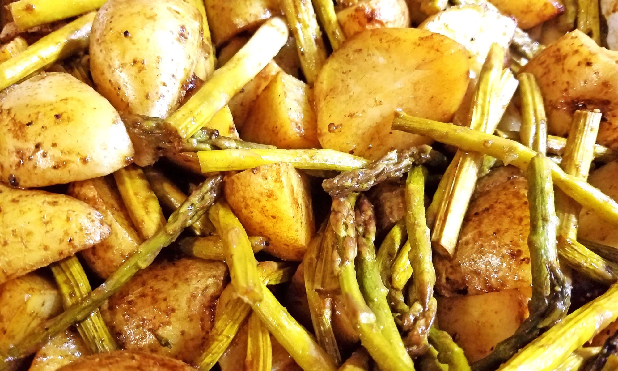 Balsamic Potatoes and Asparagus