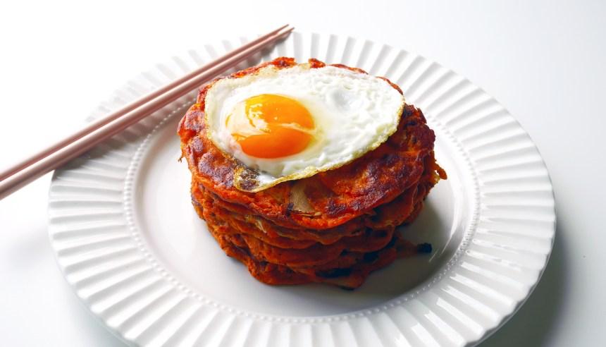 Kimchi pancake 1