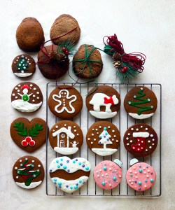 Joanne Chnag Flour Ginger cookies with royal icing Christmas decoration