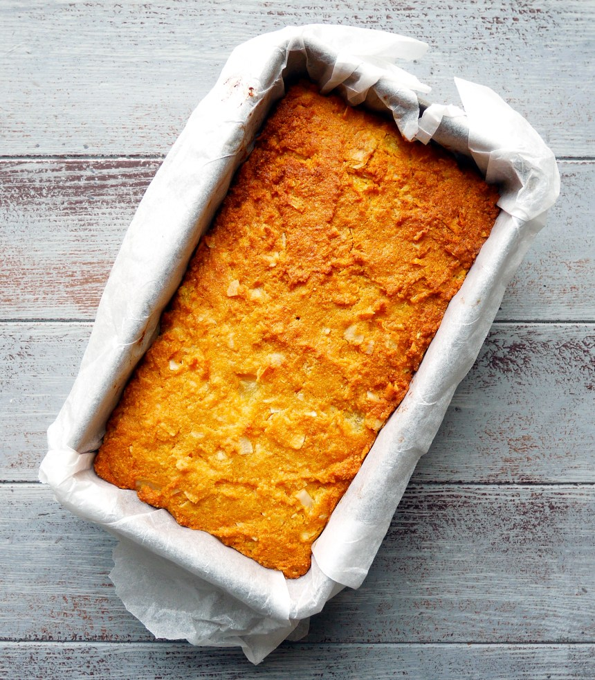 dairy free coconut and pineapple bread