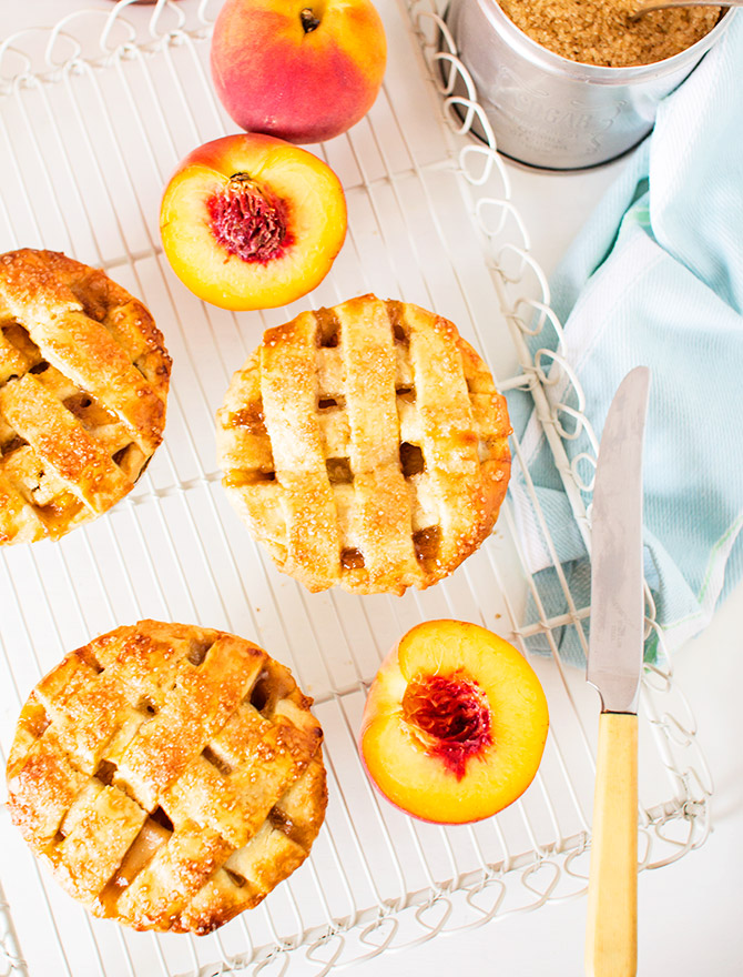 Boozy Desserts - Peach & Bourbon Pie