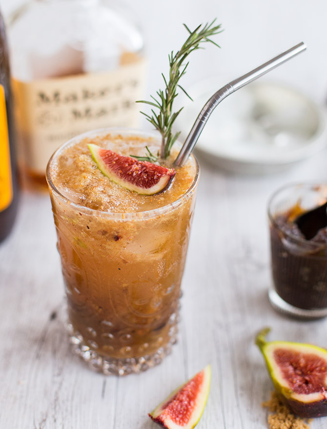 Sticky Date Bourbon Smash Cocktail