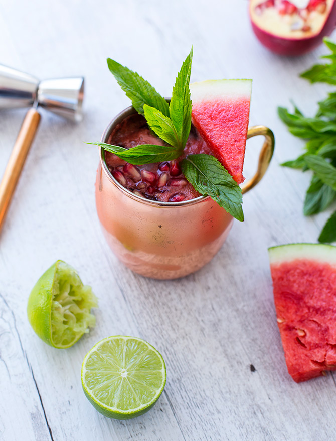Watermelon Pomegranate Moscow Mule