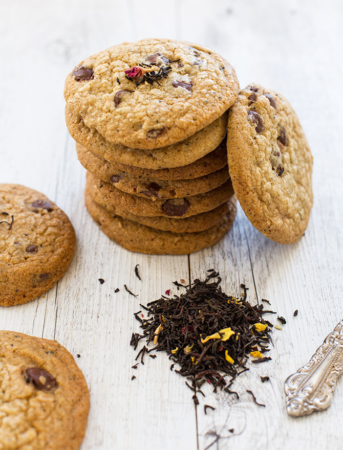 Earl Grey Chocolate Chip Cookies