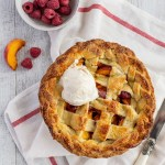 Peach and Raspberry Lattice Pie