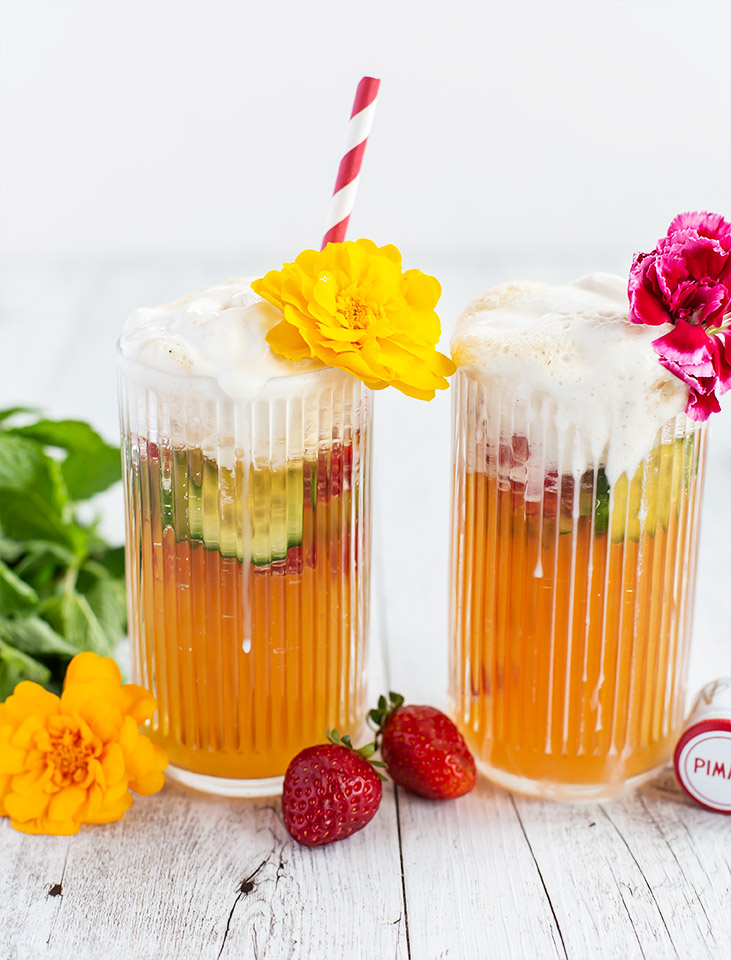 Pimms Cup Spider Ice Cream Float