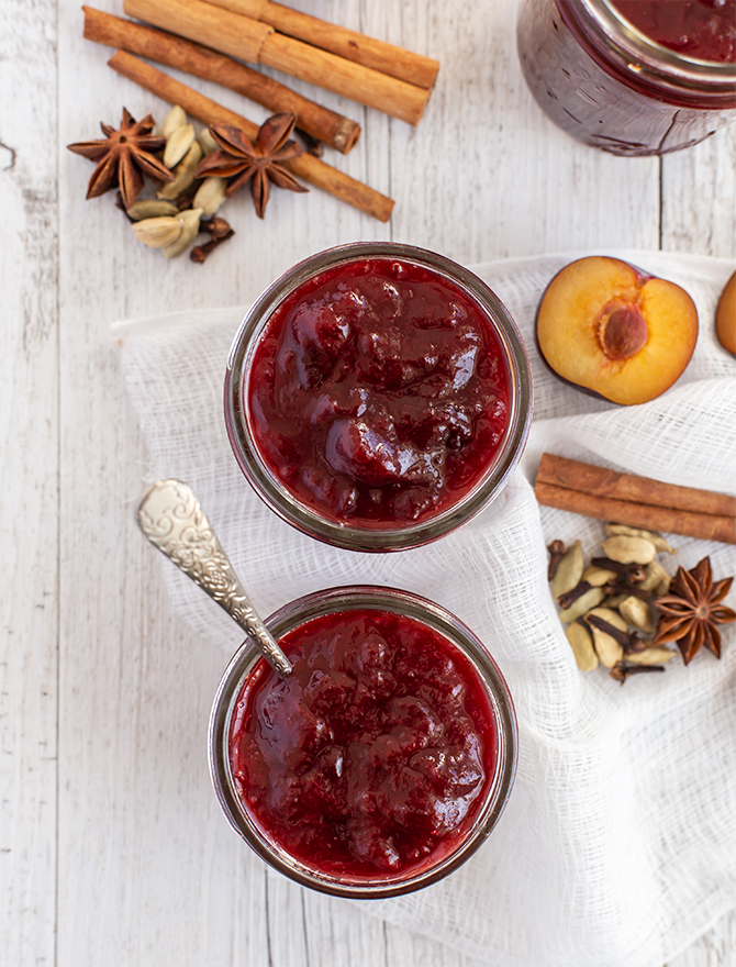 Roasted Spiced Plum Jam