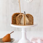 Chai Poached Pear Cakes with Chai Creme Anglaise