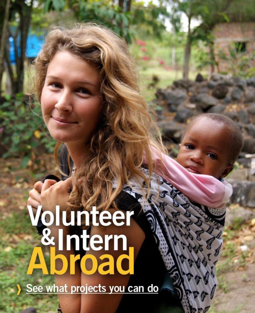 Advertisement from the volunteering agency projects-abroad.org