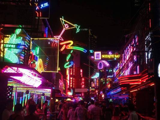 Red light district in Bangkok