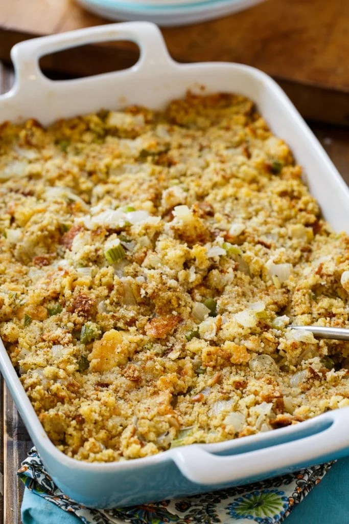 Southern Cornbread Dressing   Spicy Southern Kitchen Southern Cornbread Dressing