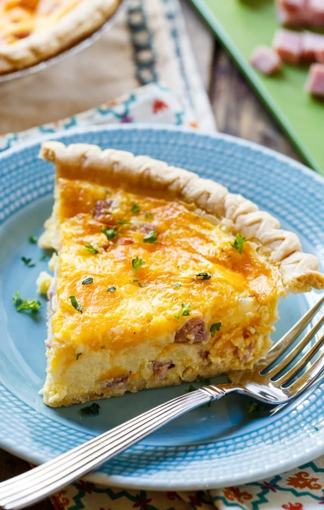 Bacon Ham Quiche And Cheese