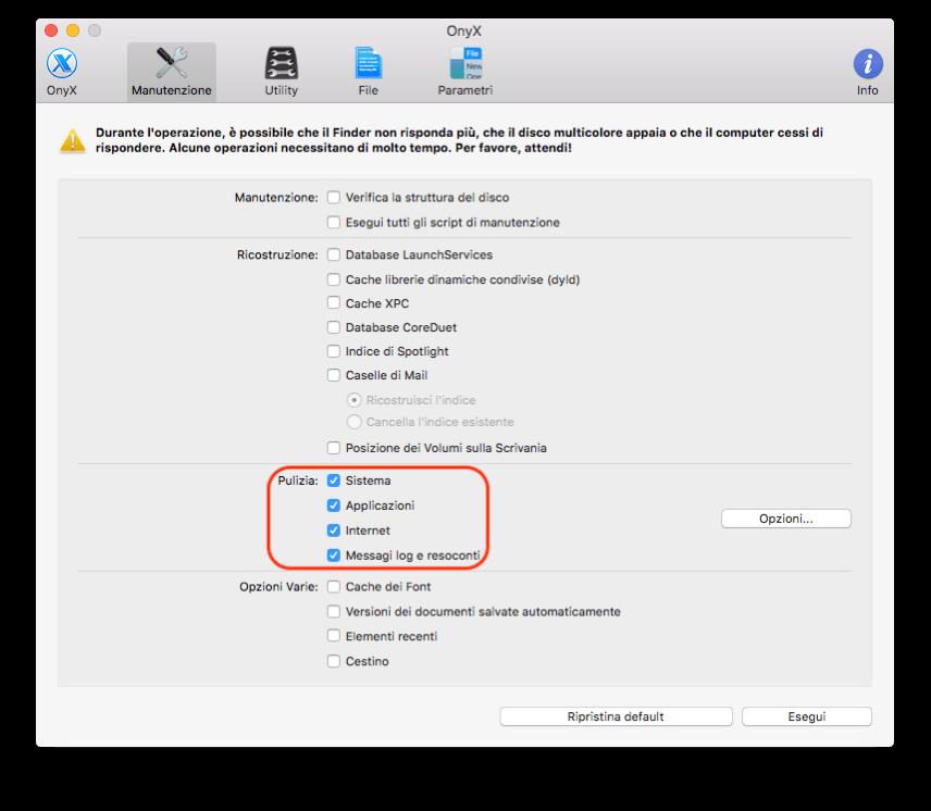 SPIDER-MAC: mancato aggiornamento pagina, vuotate la cache del browser : SPIDER-MAC