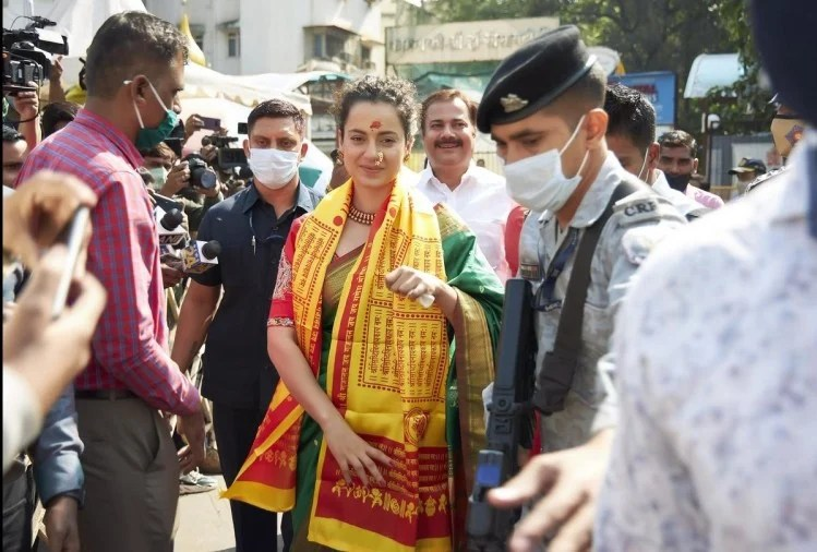 मुंबई आते ही सिद्धिविनायक के दर्शन करने पहुंचीं कंगना, बोलीं- 'यहां रहने के लिए सिर्फ बप्पा की अनुमति चाहिए'